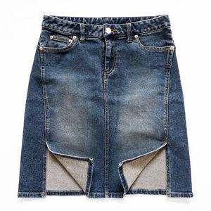 """NWOT AE Denim/Jean Skirt 2 (30"""" x 21"""") + Pockets"""